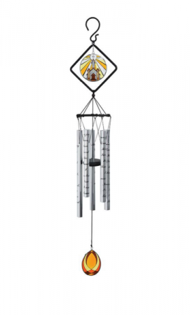 Stained Glass Wind Chime With Stand