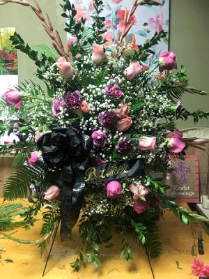 Stamding spray arrangement spray in Wilkes Barre, PA   Kelly Ann's Floral