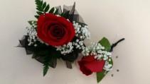 Standard Corsage Box Set: Standard Size Rose  Corsage