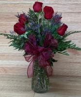 Standard Half Dozen Roses Vase