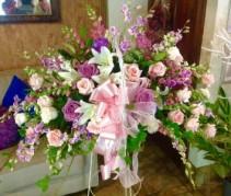 basket of roses flower  Basket