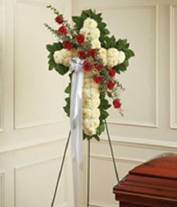 Standing Cross Funeral Flowers