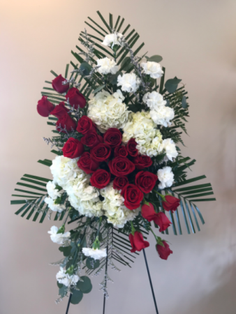 Standing easel red roses