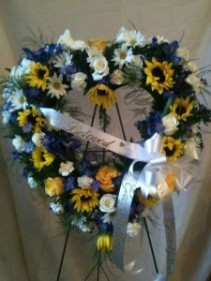 Standing Floral Sympathy Heart Standing Fresh Floral