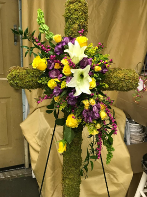 CROSSING MEADOWS FUNERAL CROSS in Brandon, FL | WHIDDEN FLORIST