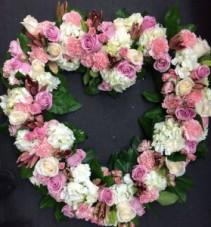 Standing Heart Wreath Arrangement