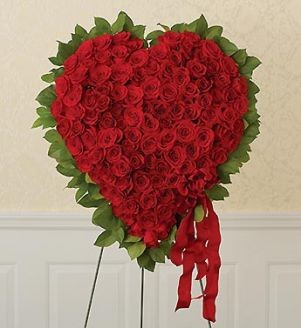 Standing Rose Heart Your heart is with them
