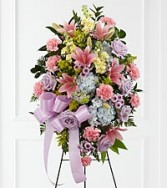 Standing Spray Pink blue yellow mouve flowers