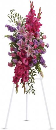 Standing Spray  in Oakville, ON   ANN'S FLOWER BOUTIQUE-Wedding & Event Florist