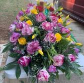 Casket Spray Funeral Arrangement 1