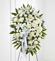 Standing Spray in white color **color can be changed as per request** in Vancouver, BC | ARIA FLORIST