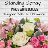 Standing Spray-Pink & White