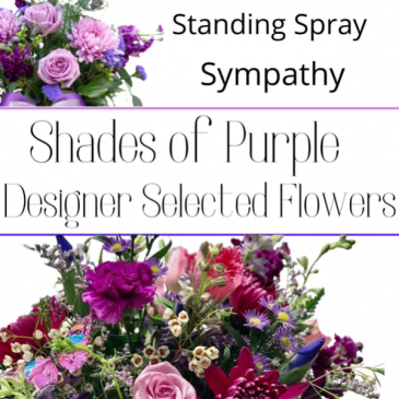 Standing Spray Purple