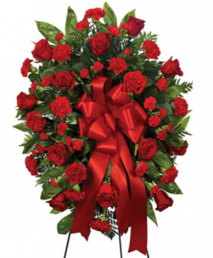 Red Standing Spray  in Arlington, TX | Erinn's Creations Florist