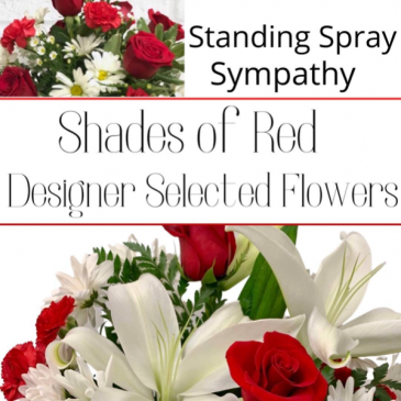 Standing Spray Red