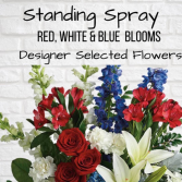 Standing Spray-Red, White & Blue