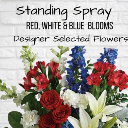 Standing Spray-Red, White & Blue