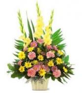 Spring Basket Funeral Flowers
