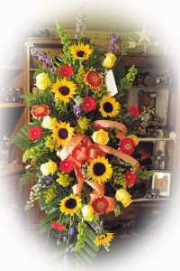Standing Spray with Sunflowers