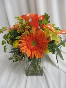 Star Burst Fresh Vased Arrangement