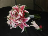 Star Gazer Lily Hand Bouquet