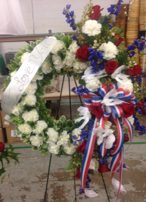 Star Spangled Tribute Arrangement in Lexington, NC | RAE'S NORTH POINT FLORIST INC.