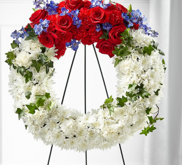 Star Spangled Wreath Standing Wreath