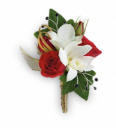 Star Studded Bout Boutonniere