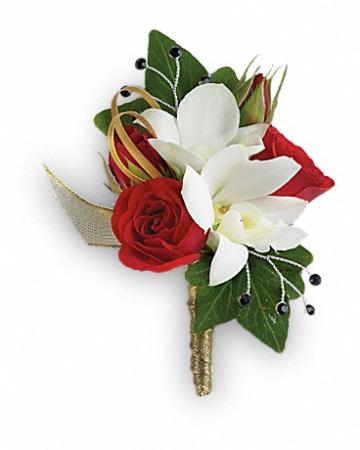 Star Studded Boutonniere Prom Boutonniere