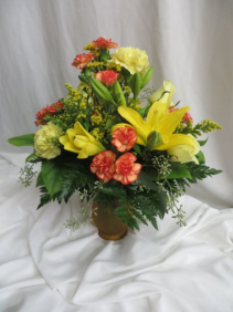 Starbright Fresh Mixed Vased Arrangement