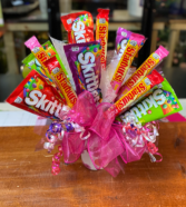 Starburst and Skittles Candy Bouquet