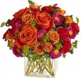 Starbust arrangement ELEGANT MIXTURE OF FLOWERS