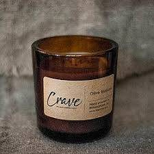 CRAVE AMBER GLASS CANDLE Candle in Amelia Island, FL | ISLAND FLOWER & GARDEN