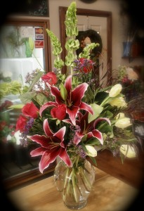Stargazer Arrangement Vased Arrangement in Skowhegan, ME | SKOWHEGAN FLEURISTE & FORMALWEAR