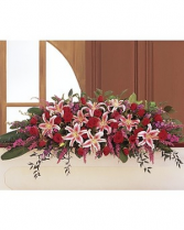 Stargazer Closed Casket Spray Casket Spray