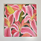 Stargazer Lilies  Acrylic Painting