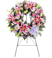 Stargazer Sentiments Funeral Wreath