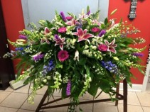 Stargazer Tribute Casket Arrangement