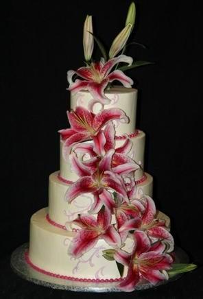 Stargazer Wedding Cake Cake Flowers