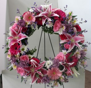 Stargazer Wreath Standing Spray