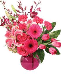 Stargazing in Pink Flower Arrangement
