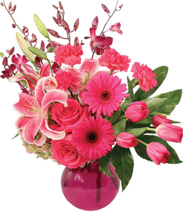 Stargazing in Pink Flower Arrangement