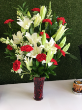 Starry Holiday Flower Arrangement