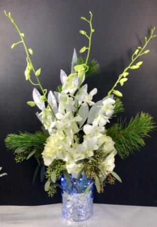 Starry Nights Light Up Vase Arrangement