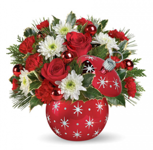 Starry Ornament Christmas in Baytown, TX | Black Orchid Florist LLC