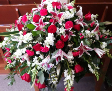 Starry Rememberance Casket Spray