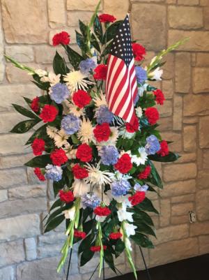 STARS AND STRIPES STANDING SPRAY in Buda, TX   Budaful Flowers