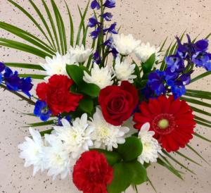 Stars & Stripes Bouquet  Fresh Cut Flower Bouquet in Troy, MI   DELLA'S MAPLE LANE FLORIST