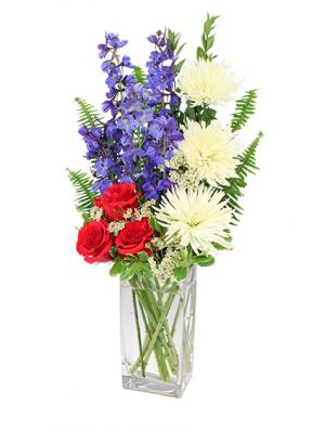 Star-Spangled Style Bouquet in Crawford, GA | BUDS 'N BOWS FLOWER SHOP