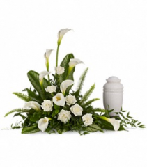 Stately Lilies Cremation Arrangement